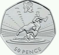 LONDON SUMMER OLYMPIC 2012 29/29 WRESTLING 50P COIN 2011 FIFTY PENCE !