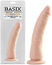 Gode ventouse Basix Rubber Works Slim - 20 cm - Ø 2,9 à 4,2 cm