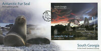 South Georgia & Sandwich Isl 2018 FDC Antarctic Fur Seal 1v M/S Cover Stamps