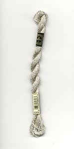 DMC Silver Metallic Pearl Cotton Skein Size 5 27.3yd #5283