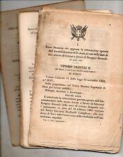 Lotto di REGI DECRETI 1861 dal 1 (28 apr) al 184 (16 ago) Unità d'Italia Regno