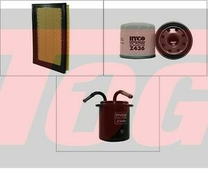 RYCO AIR FUEL OIL FILTER KIT for SUBARU FORESTER GT XT SG9 TURBO EJ25 2002-2008