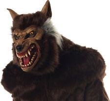Morris Costumes Werewolf Brown Hair Full Overhead Halloween Latex Mask. MR035011