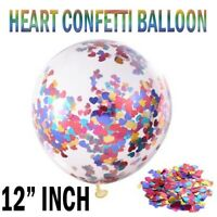 "10 Pack Confetti Balloons Latex 12"" Mix heart Birthday Hen Party Wedding"