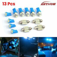 13x 12V LED Car Interior Light Dome Trunk Map License Plate Lamp Bulbs 8000K Kit