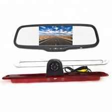 "Brake Light Backup Camera + 5"" Clip-on Rear View Mirror Monitor for MB Sprinter"