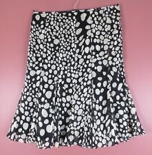 Kasper 8 M Skirt Ivory Yellow Black A-line Double Layer Womens Mint Skirts Clothing, Shoes & Accessories