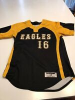 Game Worn Used Southern Mississippi Golden Eagles Softball Jersey Size Large #16