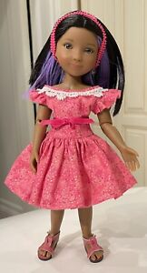 """Mary Hoyer Circle Dress 4 Ruby Red Fashion Friend 12"""" Sibley Doll Shoes Panties"""