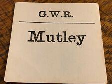 More details for g.w.r gwr great western railway parcel luggage label tag mutley