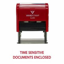 Time Sensitive Documents Enclosed Self Inking Rubber Stamp Red Ink Business L