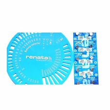 RENATA 377 SR626SW 10 Piles bouton avec Gabarit