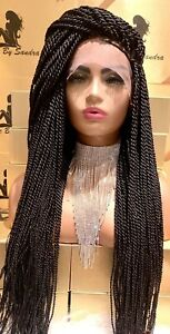 HANDMADE TWIST BRAIDED with natural human full lace hair wig.