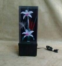 VINTAGE FIBER OPTIC LIGHT UP FLOWER MUSIC BOX VERY OLD