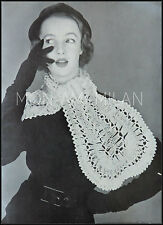 Vintage Pattern • Hairpin Crochet • Ladies Womens • Lacy Neck Scarf • Baby 3 Ply