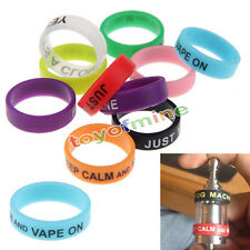 PACK OF 10 Mixed Colours Silicone Vape Atomizer Ring Bands 22mm Non-Slip Protect