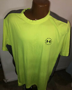Under Armour Wounded Warrior Project Neon Gray Athletic T Shirt Size XL
