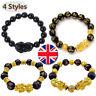 Luck Jewelry Feng Shui Black Obsidian Pi Xiu Wealth Bracelet Attract Wealth&Good