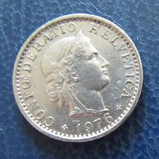 Münze 20 Rappen Schweizer Franken 1976 aus Umlauf gültiges Zahlungsmittel