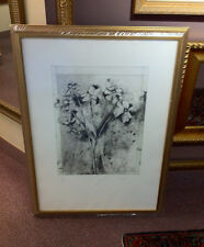 Jim Dine Temple of Flora Anemones print signed 1978 framed floral