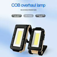 Rechargeable 10W 800LM COB LED Work Light Lamp Flashlight Inspect Folding Torch