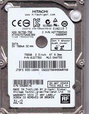Hitachi HTS547575A9E384  pn: 0J27703 mlc: DA4755  fw: JE4AD70E 750GB SATA B18-16