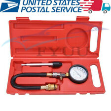 Car Vehicle Compression Petrol Gas Engine Cylinder Pressure Gauge Tester Kit-USA