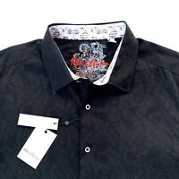 Robert Graham Paisley Long Sleeve Black Sport Shirt Mens Size 2XL $188