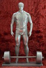 Sports Olympic Weightlifter USSR Original Sculpture bust sc. Murzin 1977 year