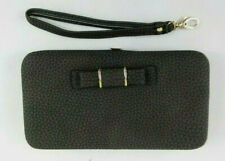 Dark Grey Phone Wallet Case, Clutch Purse, Cell phone, Credit Card Inserts