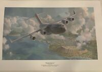 Waikiki Sunrise by Keith Ferris- C-17 Globemaster III- Aviation Art Print