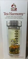 TEAVANA - Tea Harmony Double Wall Glass Tumbler - 16 oz - with Strainer