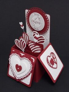 """A handmade Luxury """"Sent With Love"""" pop up box greeting card"""