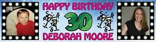 Personalized Birthday Party Banner with photos 18th 21st, 30th, 40th, 50th, 60th