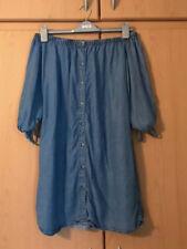 New Look Blue Off The Shoulder Denim Dress UK8