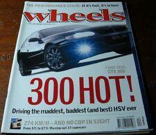 April 2000.WHEELS.Holden Commodore HSV GTS 300.911 Turbo.Quattro.Jaguar.E240.S80