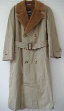 Vintage English Mens Original Grenfell Cloth Cotton Raincoat Coat Alpaca Vienna