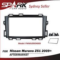 Double 2 DIN FACIA KIT Panel Fascia Dash Plate For Nissan Murano Z51 2009+ AD