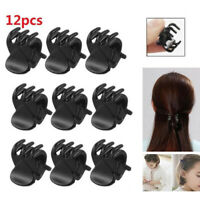 12Pcs Black Mini Plastic Hairpin Claws Hair Clips Clamp For Women Girls Surprise