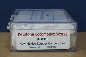 Keystone Locomotive Works K-1001 On3 New Mexico Lumber Log cars Kit makes 2 NIB