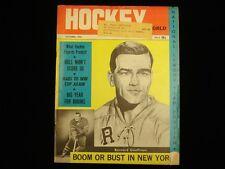 October 1966 Hockey World Magazine - Bernard Geoffrion Cover