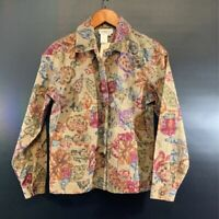 Coldwater Creek Jacket Long Sleeve NWT Floral Jacket Size PXS