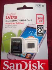 SanDisk 200GB Ultra 90MB/s Class 10 Micro SD SDXC Memory Card
