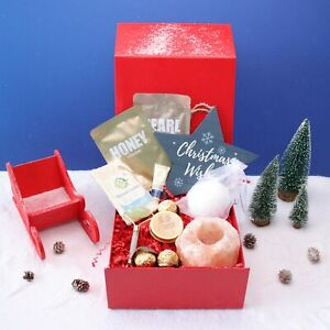 Home Spa & Beauty Christmas Pamper Hamper Bath and Body Gift Box for Her