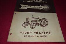 Cockshutt 570 Gas & Diesel Tractor Operator's Manual PBPA