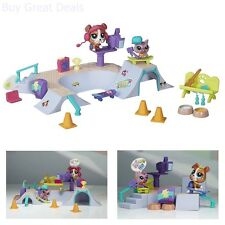 Littlest Pet Shop Playset Skate Park Toys Pieces Building Dishes Cups Furniture