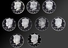 FULL SET 2000-2008 90% SILVER PROOF KENNEDY HALF DOLLARS! 9 TOTAL COINS!
