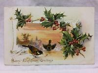Vintage Postcard Embossed Merry Christmas Greetings Tucks Raphael Tuck