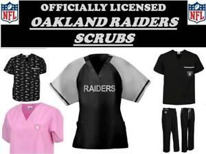 NFL Scrubs-Oakland Raiders Scrub Tops & Scrub Bottoms-Oakland Raiders Scrubs
