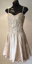 H&M ~ soft golden glazed cotton spaghetti strapped party dress ~size 36 - UK 10